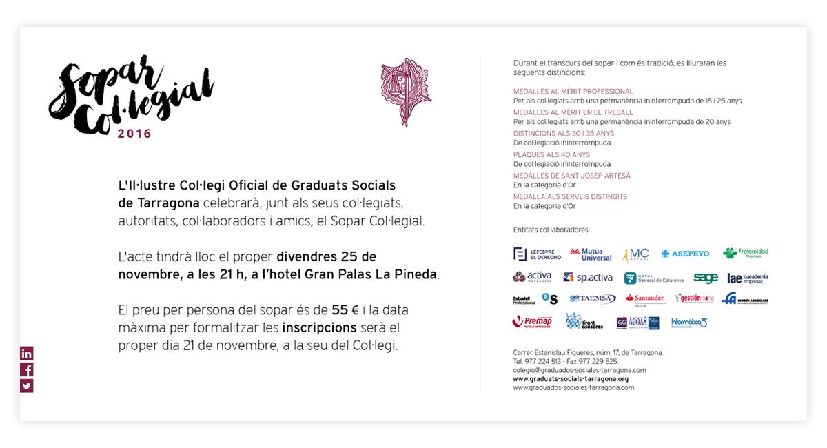 Cena Colegial 2016 Colegio De Graduados Sociales De Tarragona
