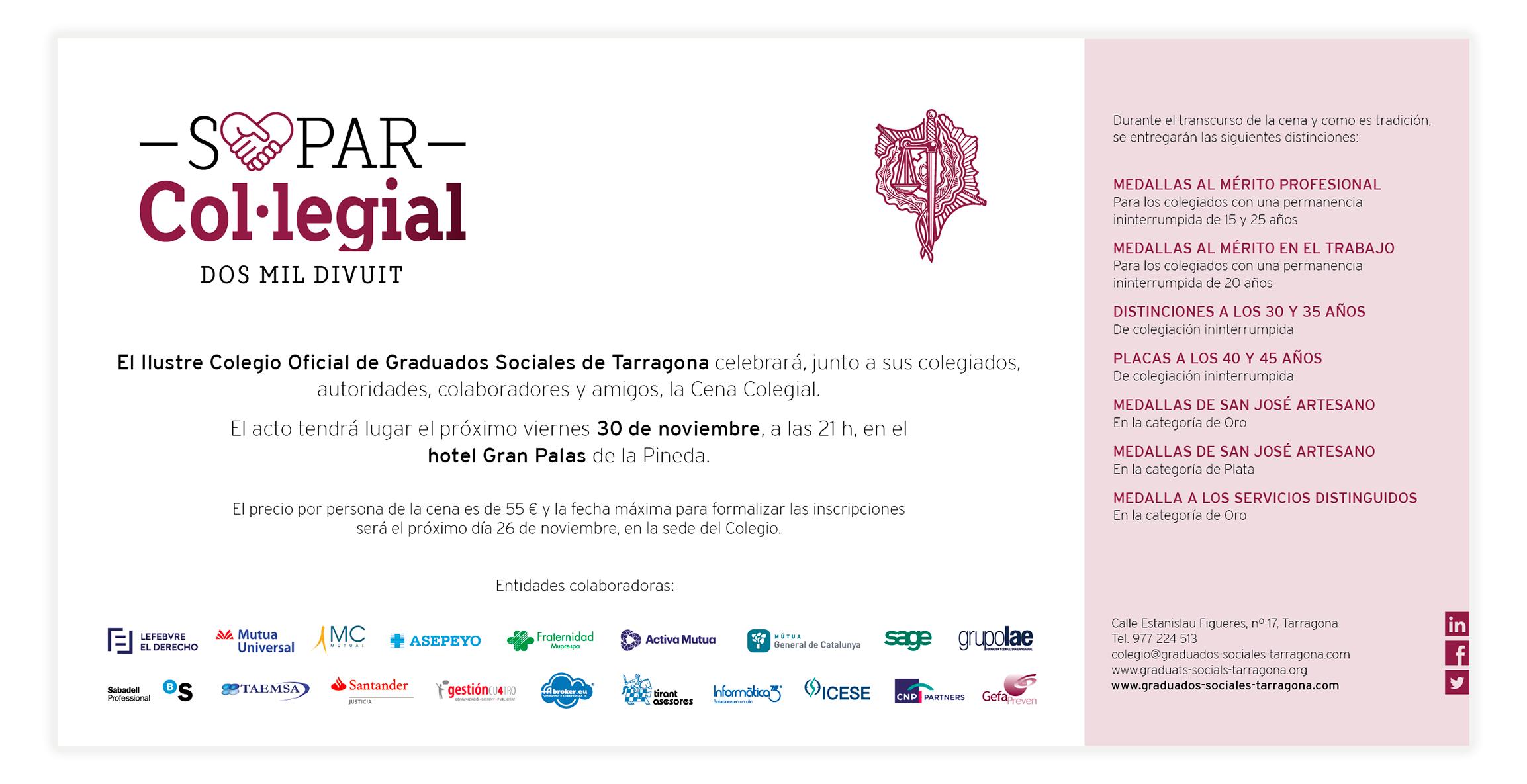Actos Institucionales Colegio De Graduados Sociales De Tarragona