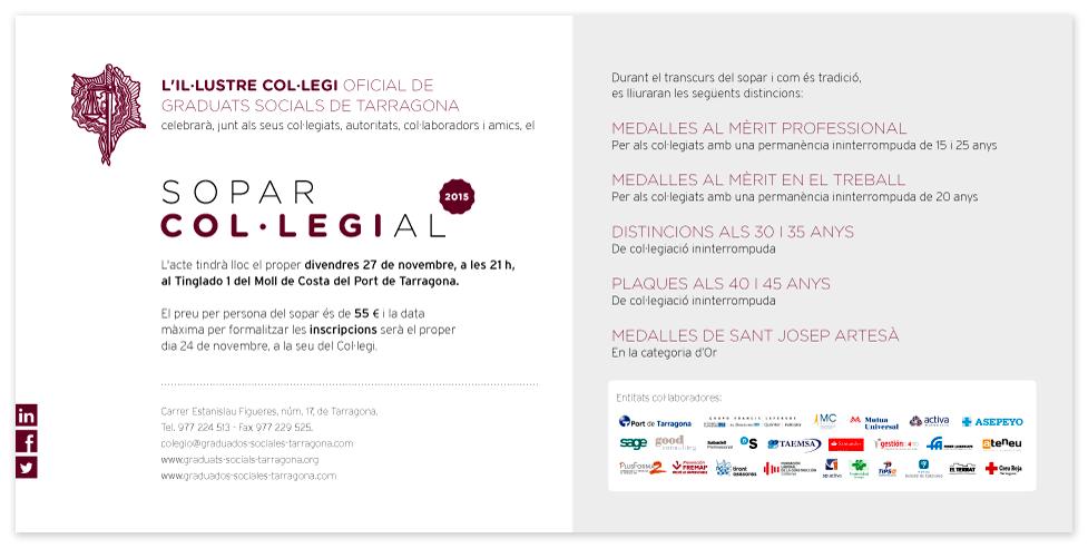 Cena Colegial 2015 Colegio De Graduados Sociales De Tarragona