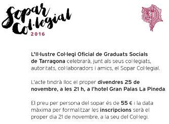 Historial Cena Colegial Colegio De Graduados Sociales De Tarragona