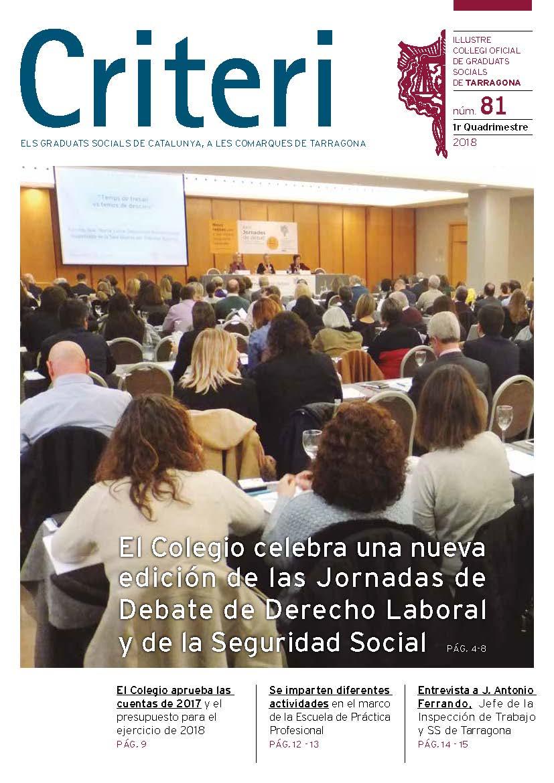 Revista Criteri Colegio De Graduados Sociales De Tarragona